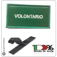 Grado Verde Su Velcro Vigili Del Fuoco Volontario  Art.T00361