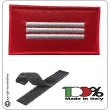 Grado Rosso Su Velcro Vigili Del Fuoco Capo Reparto Effettivo Art.T00486