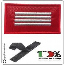 Grado Rosso Su Velcro Vigili Del Fuoco Capo Reparto Esperto  Art.T00723