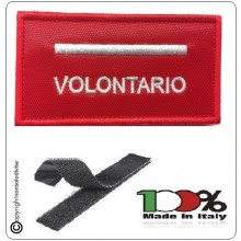 Grado Rosso Su Velcro Vigili Del Fuoco Capo Scquadra Volontario  Art.T00362