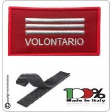 Grado Rosso Su Velcro Vigili Del Fuoco Capo Reparto Volontario  Art.T00363