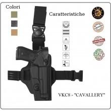 Fondina Cosciale Compatta Vega Holster Cosciale Cavallery Polizia Carabinieri Esercito  Art.VKC8
