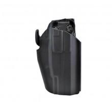 Fondina Rigida in Polimero Nera Universale con Sicura Blocco Arma Glock Beretta Polizia Carabinieri Guardia GPG IPS Art. WO-GB35B