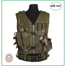 Tactical Vest - Gilet Tattico Modulare Corpetto Tattico USMC Mil-Tec Woodland  Art.10720024