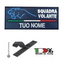 Toppa Petch Targhette con Velcro Logo + Nome Personalizzato per Polizia di Stato Squadra Volante Prodotto Ufficiale cm 10x5 Art. MP-NOME-V