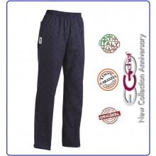 Pantalone Pants Hose Coulisse Cuoco Chef Professionale Ego Chef Italia France Blu Art.3502106C