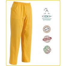 Pantalone Coulisse Unisex Infermiere Dottore Dentista Giallo Art.3504012
