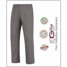 Pantalone Pants Hose Coulisse Cuoco Chef Professionale Ego Chef Italia Grigio Art.3504067C