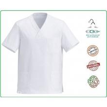 Casacca Leonardo Medicale Bianca Medico Infermiere Dentista OSS Art.5500001