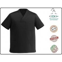 Casacca Leonardo Medicale Nera Medico Infermiere Dentista Ego Chef italia Art.Y410002
