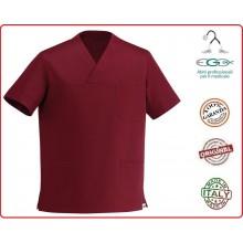 Casacca Leonardo Medicale Bordeaux Medico Infermiere Dentista Ego Chef italia Art.Y410003