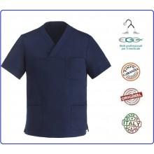 Casacca Leonardo Medicale Blu Medico Infermiere Dentista Ego Chef italia Art.Y410006