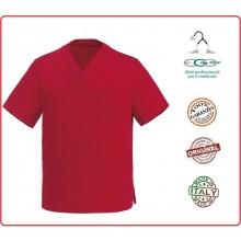 Casacca Leonardo Medicale Rossa Medico Infermiere Dentista Ego Chef italia Art.Y410007