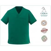 Casacca Leonardo Medicale Verde Medico Infermiere Dentista Ego Chef italia Art.500010A