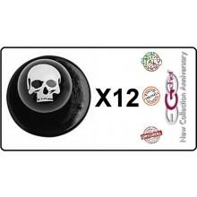Bottone Bottoni Funghetto per Giacca Cuoco Chef Confezione 12 Pezzi Teschi Ego Chef Art.7400120L