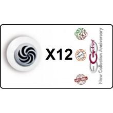 Bottone Bottoni Funghetto per Giacca Cuoco Chef Confezione 12 Pezzi Vortice Bianco Ego Chef Art.BOTT-15