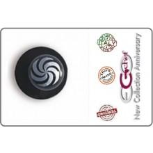 Bottone Bottoni Funghetto Per Giacca Cuoco Chef  Ego Vortice Nero Chef  Confezione 12 pezzi Art.640405
