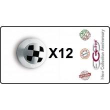 Bottone Bottoni Funghetto per Giacca Cuoco Chef Confezione 12 Pezzi Scacchi Ego Chef Art.BOTT-17