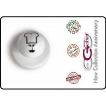 Bottone Bottoni Funghetto Per Giacca Cuoco Chef  Ego Berretto Cuoco Chef Confezione 12 Pezzi  Art.640409