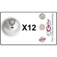 Bottone Bottoni Funghetto per Giacca Cuoco Chef Confezione 12 Pezzi Berretto Cuoco Ego Chef Art.BOTT-18