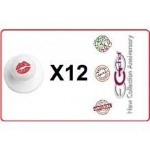 Bottone Bottoni Funghetto per Giacca Cuoco Chef Confezione 12 Pezzi Bacio di Donna Ego Chef Art.BOTT-24