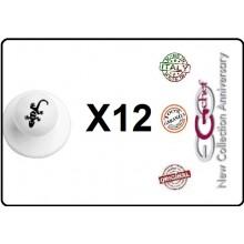 Bottone Bottoni Funghetto per Giacca Cuoco Chef Confezione 12 Pezzi Geko Geco Lucertola Ego Chef Art.BOTT-22
