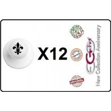 Bottone Bottoni Funghetto per Giacca Cuoco Chef Confezione 12 Pezzi Giglio Fiorentino Ego Chef Art.BOTT-21