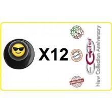 Bottone Bottoni Funghetto per Giacca Cuoco Chef Confezione 12 Pezzi Smile Giallo con Occhiali Ego Chef Art.BOTT-20