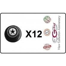 Bottone Bottoni Funghetto per Giacca Cuoco Chef Confezione 12 Pezzi Stella Star Ego Chef Art.BOTT-19