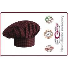 Cappello Cuoco Chef EGO CHEF Italia Red Alfred Art.660125