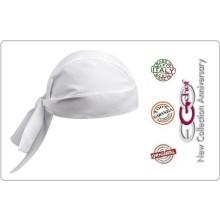 Bandana Sagomata Professionale Medicale Cuochi Chef Bianca Ego Chef Italia Art.670001