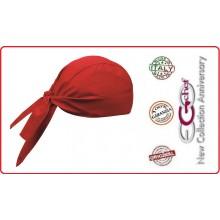 Bandana Sagomata Professionale Medicale Cuochi Chef Rosso Red Ego Chef Italia Art.670007