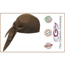 Bandana Sagomata Professionale Medicale Cuochi Chef Kaki Ego Chef Italia Art.670009