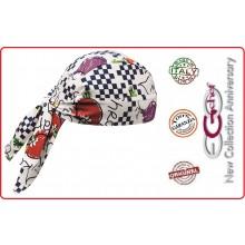 Bandana Sagomata Professionale Fantasy Ego Chef Italia Art.670102