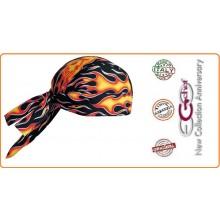 Bandana Sagomata Professionale Flames Inferno  Ego Chef Italia Art.670110