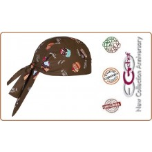 Bandana Sagomata Professionale Medicale Cuochi Chef Sweets Torte Ego Chef Italia Art.7002136A