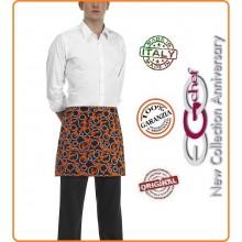 Grembiule Falda Banconiere Con Tascone Lobster Aragoste cm 40x70 Ego Chef Italia Art.6100134A