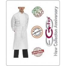 Grenbiule Falda Vita Con Tascone Bianca 70x70 Ego Chef Italia Art.6101001N