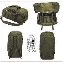 Borsa da Viaggio VERDE OD 3 in 1 Valigia Zaino Sacca Trasporto Sistema MOLLE Militare Civile Sicurezza 118 Protezione Civile Art.30655B