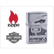 Zippo Accendino Originale U.S.A. Harley Davidson Engine Silver  Art.421392