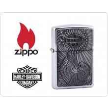 Zippo Accendino Originale Harley Davidson Eagle Art.421397