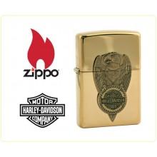 Zippo Accendino Originale Harley Davidson Gold Eagle  Art.421395