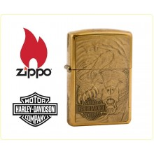 Zippo Accendino Originale Harley Davidson Gold Beer Panter Art.421404