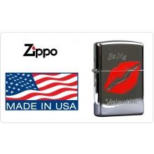 Accendino Zippo® Original Originale USA San Valentino Labbra Valentine Lips Art.421121