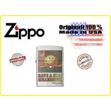 Accendino Zippo® Original Originale USA HAVE A NICE MILLENNIUM Smiley by Loufrani  Art.421151-1671