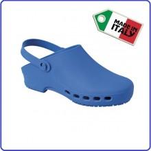 Zoccolo Ciabatta Autoclavabile Blu Isacco Prodotto Italiano Infermieri Unisex Art.112606
