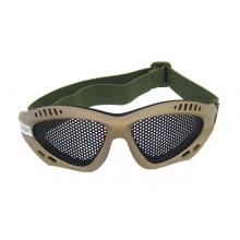 Occhiali Prottettivi con Rete per Soft Air Tan  Art.6059T