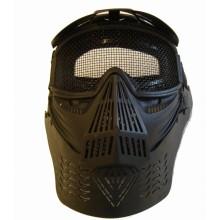 Maschera Facciale Nera Completa per Soft Air Art.2604B