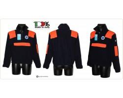 Maglioncino Pile Maglione Zip Soccorso Sanitario Con Toppe e Ricami  118 Soccorritori  Art.SS-PILE-118