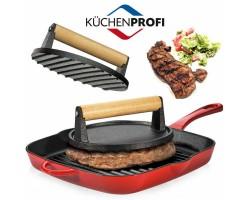 Peso per La Cottura della Carne su Griglia 1Kg Diametro 18 Cm Professionale BBQ Art. 5112867